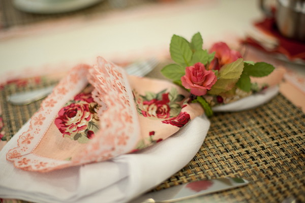 detalhes guardanapo floral