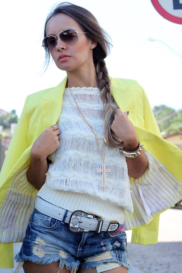 look blazer amarelo zara trendy box e alpagarta kafe acessorios cinto apache lilly