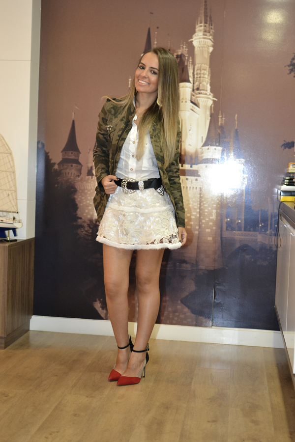 look saia renda kazullo e jaqueta camuflada zara loja on line trendy box10