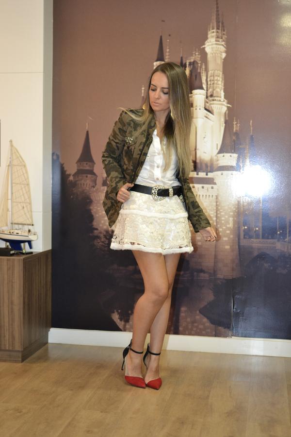 look saia renda kazullo e jaqueta camuflada zara loja on line trendy box5