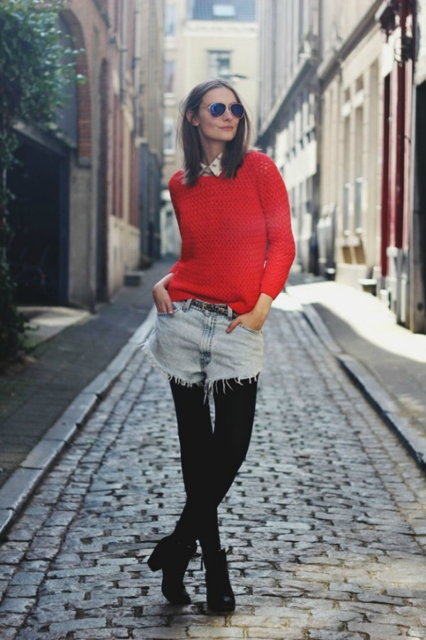 shorts jeans no inverno