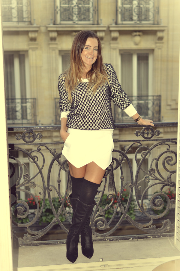 look saia -shorts assimetrico