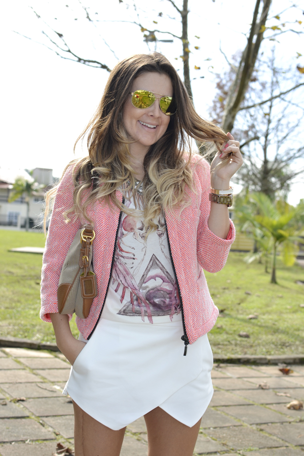 look shorts assimetrico zara