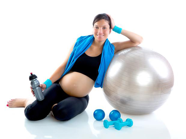 Gestante fit ball