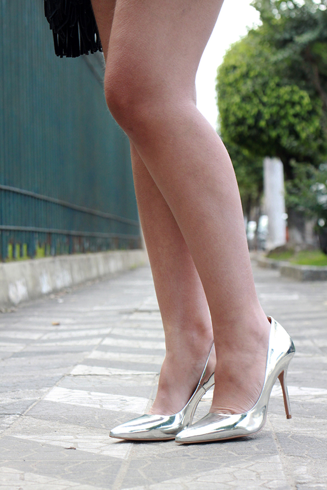 scarpim metalizado prata santa lolla